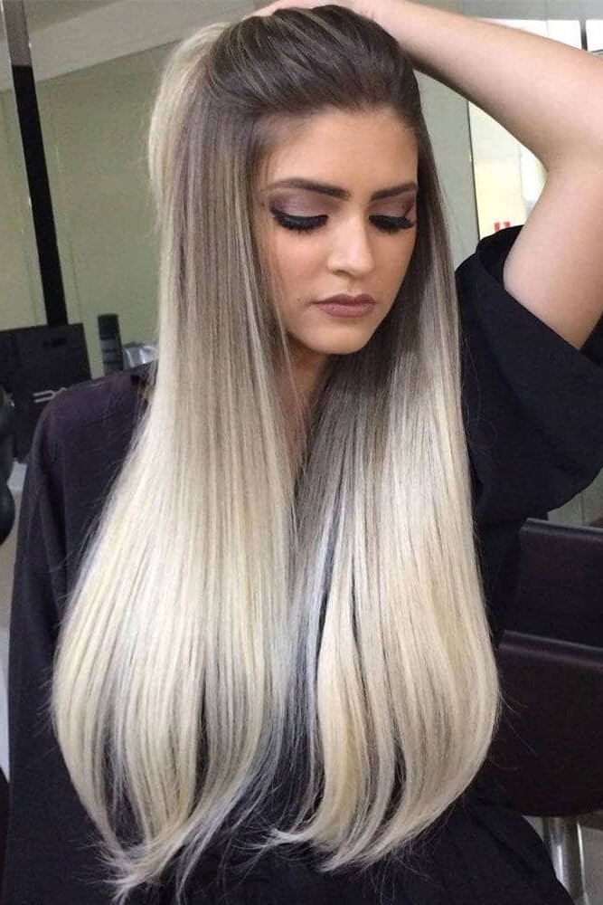 50 Proofs That Anyone Can Pull Off The Blond Ombre Hairstyle For Fade To White Blonde Hairstyles (View 19 of 25)