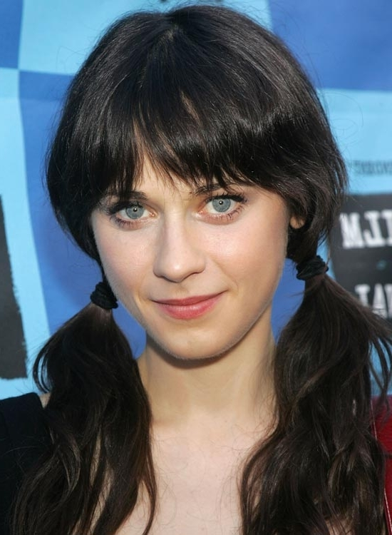 50 Red Carpet Hairstyles Pertaining To Low Black Ponytail Hairstyles With Bangs (View 19 of 25)