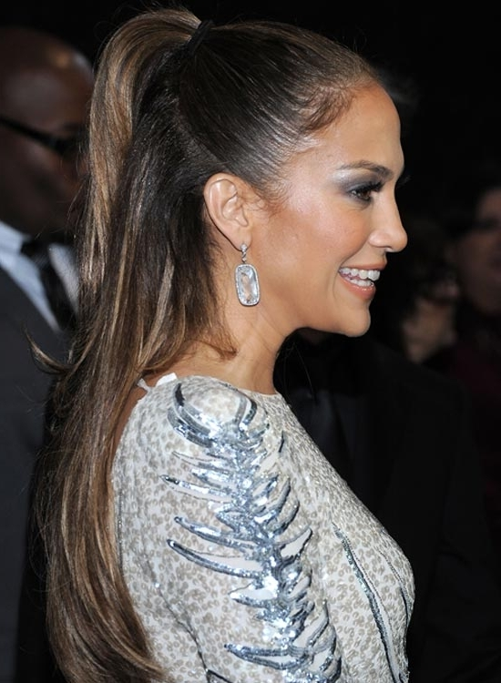 50 Red Carpet Hairstyles Regarding Straight High Ponytail Hairstyles With A Twist (View 11 of 25)