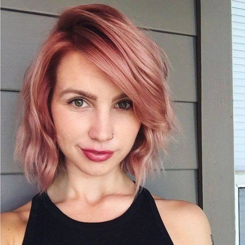 50 Rose Gold Hair Ideas | Herinterest/ Pertaining To 2018 Rose Gold Pixie Hairstyles (View 15 of 25)