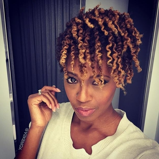 50 Short Hairstyles For Black Women | Stayglam Throughout Highlighted Afro Curls Ponytail Hairstyles (View 13 of 25)