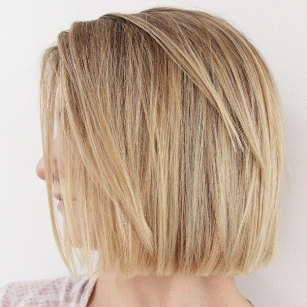 50 Spectacular Blunt Bob Hairstyles | Hair | Pinterest | Caramel Within Caramel Blonde Lob With Bangs (View 16 of 25)