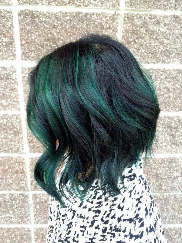 50 Stylish Highlighted Hairstyles For Black Hair | New Hairstyle In Blonde Hairstyles With Green Highlights (View 14 of 25)