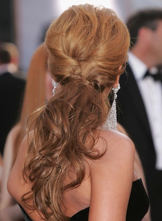 50 Super Easy Casual Hairstyles For Medium Hair Regarding Twisted And Tousled Ponytail Hairstyles (View 14 of 25)