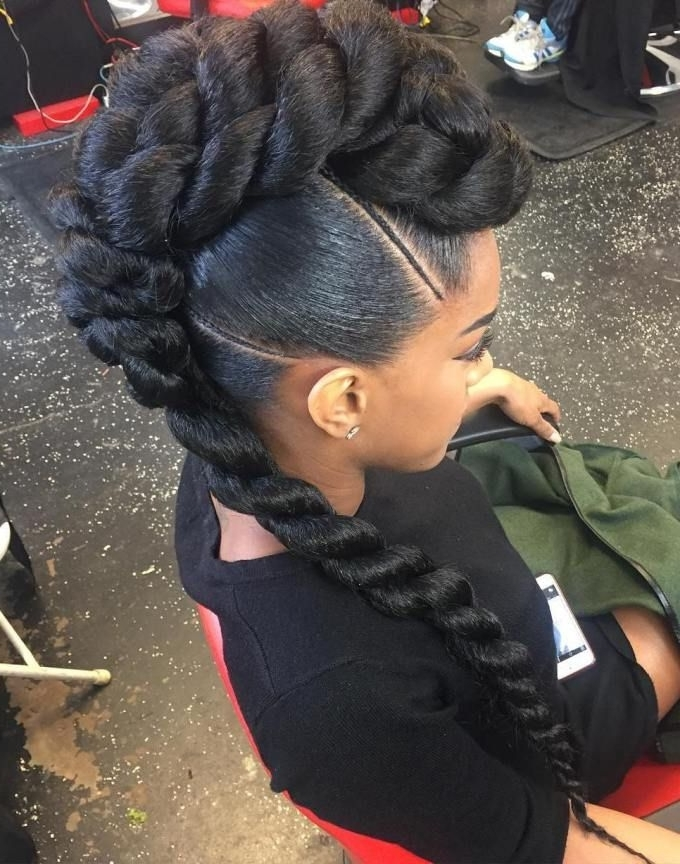 50 Superb Black Wedding Hairstyles | Mohawk Updo, Mohawks And Updo In Stylish Supersized Ponytail Hairstyles (View 19 of 25)