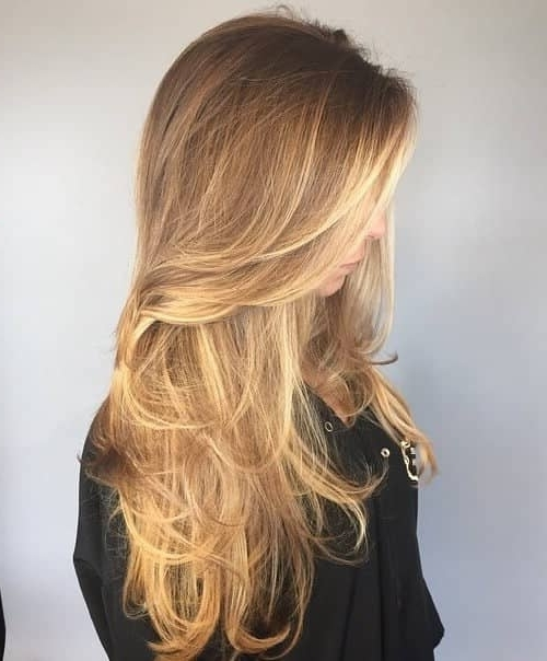 50 Timeless Ways To Wear Layered Hair And Beat Hair Boredom Inside Sun Kissed Blonde Hairstyles With Sweeping Layers (View 18 of 25)