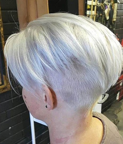 50 Trendiest Short Blonde Hairstyles And Haircuts | 16402 Napes (2 For Most Up To Date Ash Blonde Pixie Hairstyles With Nape Undercut (View 15 of 25)