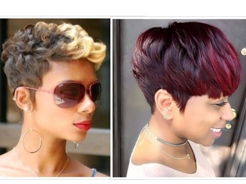 50 Trendy Short Hairstyles For Black Women – Youtube With Newest Sassy Undercut Pixie Hairstyles With Bangs (View 25 of 25)