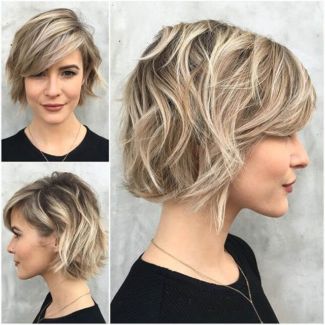 50 Ways To Wear Short Hair With Bangs For A Fresh New Look Regarding Newest Cropped Tousled Waves And Side Bangs Hairstyles (View 6 of 25)