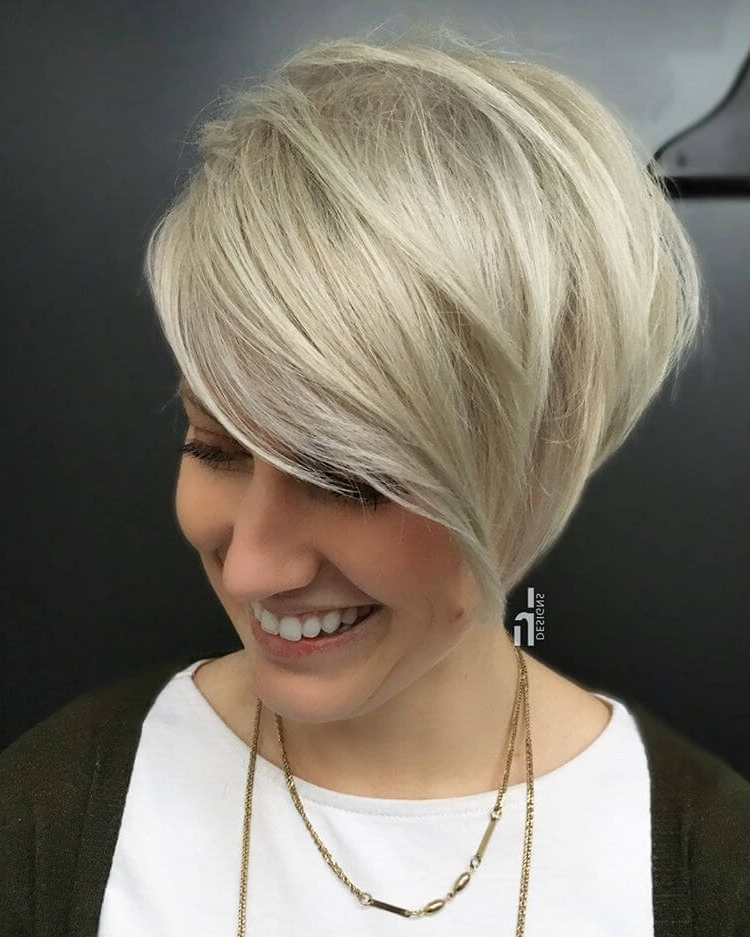50 Ways To Wear Short Hair With Bangs For A Fresh New Look Throughout Latest Angled Pixie Bob Hairstyles With Layers (View 19 of 25)