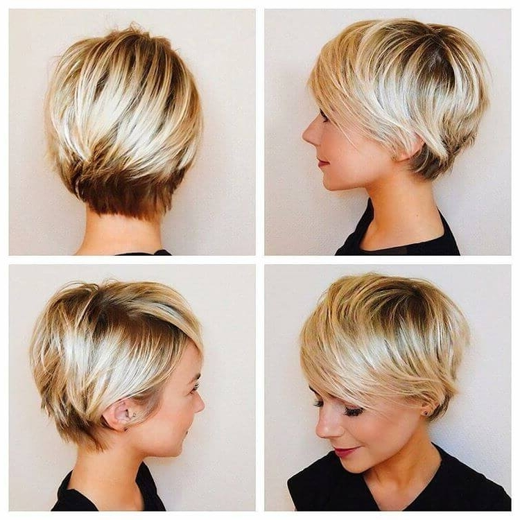 50 Ways To Wear Short Hair With Bangs For A Fresh New Look With Regard To Most Recently Finely Chopped Buttery Blonde Pixie Hairstyles (View 12 of 25)