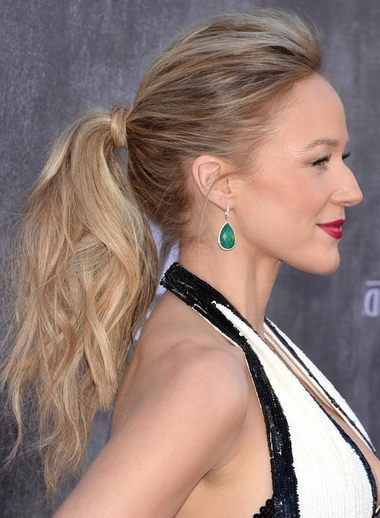 50 Wispy Medium Hairstyles Intended For Blonde Ponytail Hairstyles With Beach Waves (View 9 of 25)