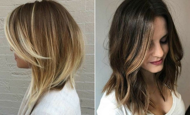51 Cool And Trendy Medium Length Hairstyles | Page 4 Of 5 | Stayglam With Regard To Creamy Blonde Waves With Bangs (View 20 of 25)