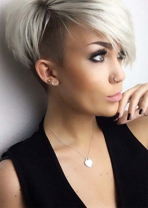 51 Edgy And Rad Short Undercut Hairstyles For Women – Glowsly For White Blonde Hairstyles With Dark Undercut (View 12 of 25)