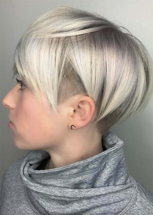 51 Edgy And Rad Short Undercut Hairstyles For Women – Glowsly Inside Most Current Pixie Bob Hairstyles With Temple Undercut (View 4 of 25)