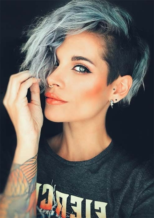 51 Edgy And Rad Short Undercut Hairstyles For Women – Glowsly Inside Recent Undercut Blonde Pixie Hairstyles With Dark Roots (View 22 of 25)