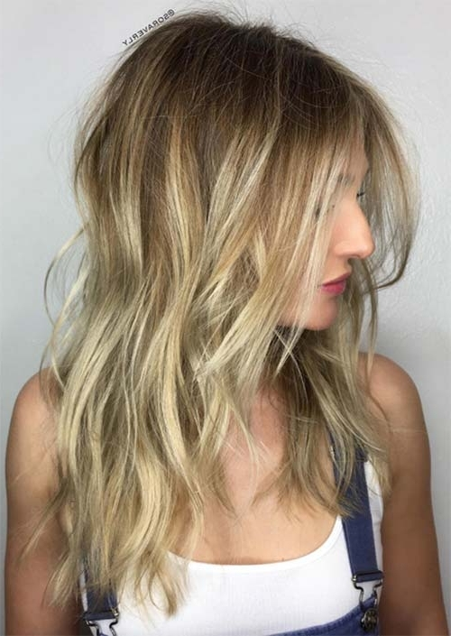 51 Medium Hairstyles & Shoulder Length Haircuts For Women In 2018 Intended For Multi Tonal Mid Length Blonde Hairstyles (View 9 of 25)