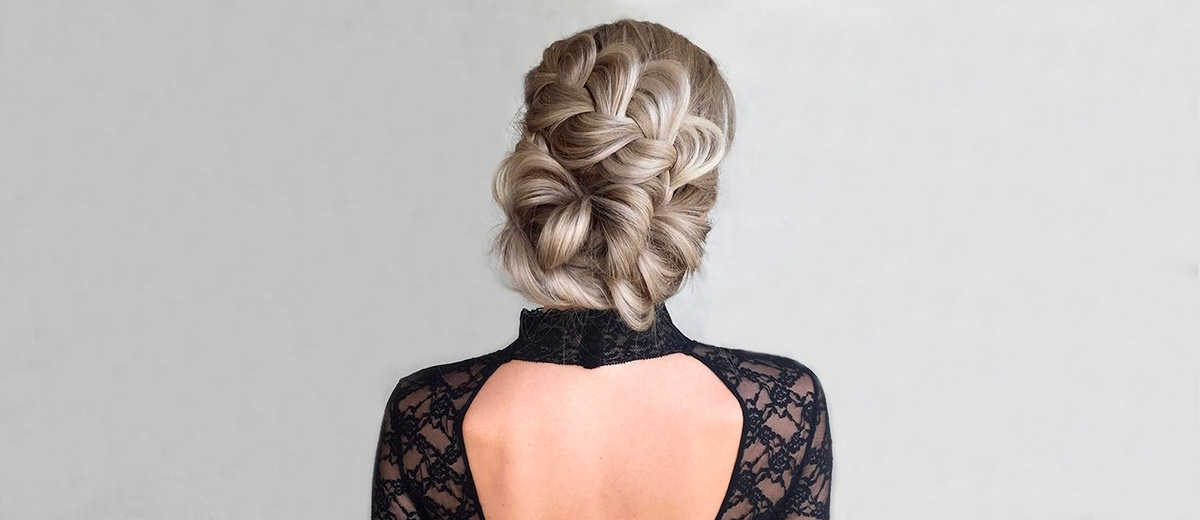 51 Sophisticated Prom Hair Updos | Lovehairstyles In Platinum Braided Updo Blonde Hairstyles (View 19 of 25)