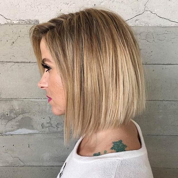 51 Trendy Bob Haircuts To Inspire Your Next Cut In 2018 | Stayglam Pertaining To White Blunt Blonde Bob Hairstyles (View 8 of 25)