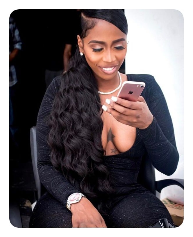 52 Classy Weave Ponytail Ideas You Are Sure To Love Intended For Princess Like Ponytail Hairstyles For Long Thick Hair (View 12 of 25)