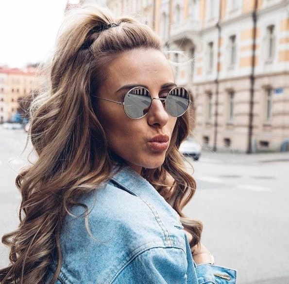 52 Quick And Easy Half Up Half Down Hairstyles In 2018   Hair With Regard To Half Up Curly Look Pony Hairstyles (View 2 of 25)