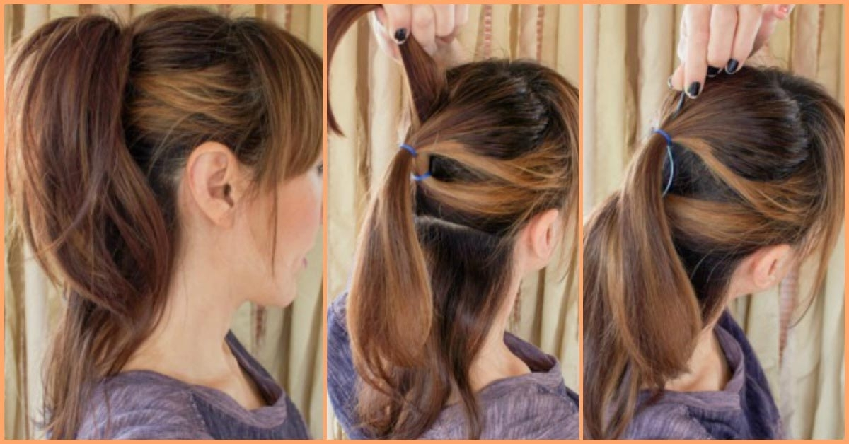 53 Easy To Do Ponytail Hairstyles For Girls Inside Ponytail Hairstyles With Wild Wavy Ombre (View 18 of 25)