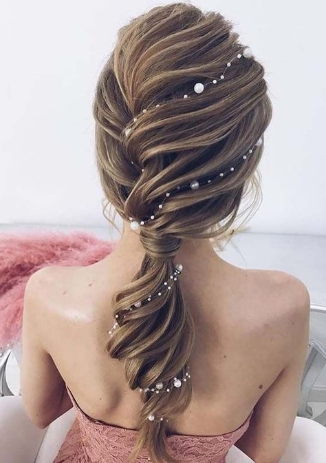 53 Fabulous Ideas Of Wedding Hairstyles & Haircuts In 2018 With Fabulous Bridal Pony Hairstyles (View 12 of 25)