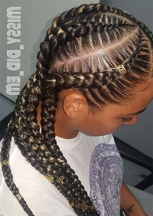 53 Goddess Braids Hairstyles – Tips On Getting Goddess Braids Inside Reverse French Braids Ponytail Hairstyles With Chocolate Coils (View 9 of 25)