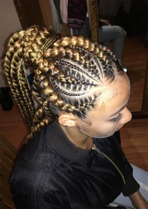 53 Goddess Braids Hairstyles – Tips On Getting Goddess Braids Regarding Reverse French Braids Ponytail Hairstyles With Chocolate Coils (View 20 of 25)