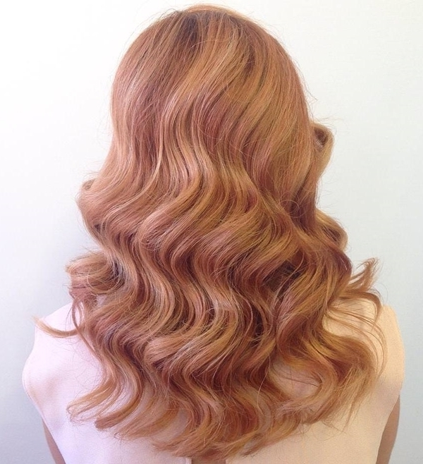 53 Strawberry Blonde Hair At Its Best – Style Easily In Dishwater Waves Blonde Hairstyles (View 11 of 25)