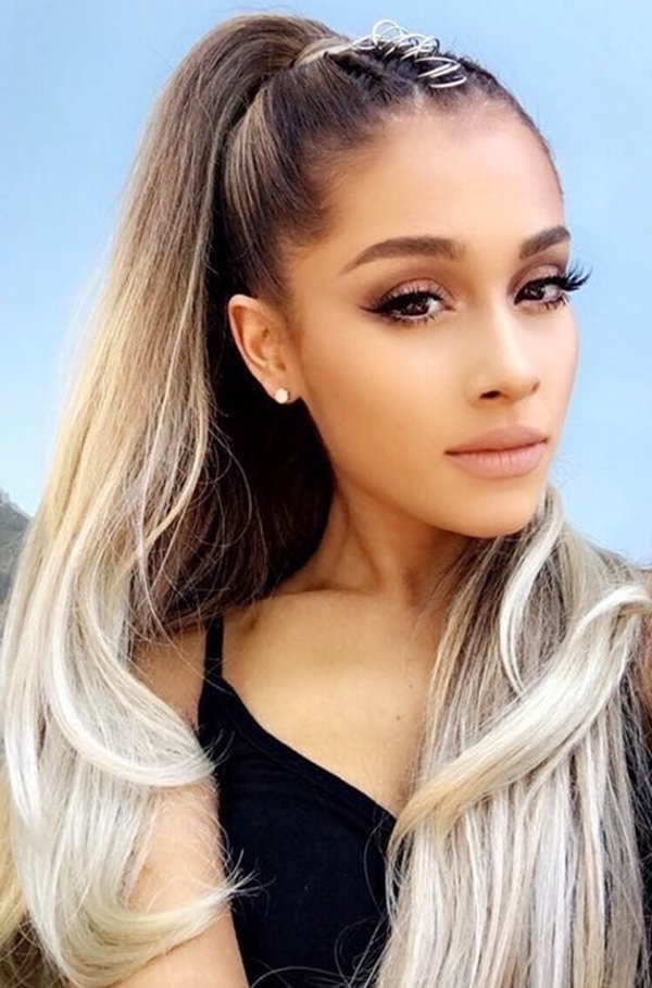 54 Amazing Ariana Grande Hairstyles & Color Ideas Within Grande Ponytail Hairstyles (View 4 of 25)