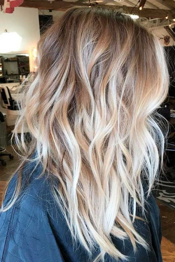 Featured Photo of White Blonde Hairstyles For Brown Base