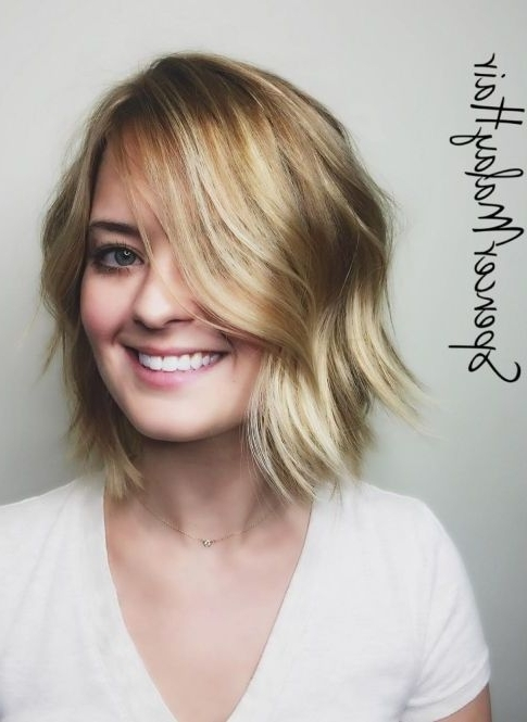 55 Cute Bob Hairstyles For 2017: Find Your Look Pertaining To Soft Layers And Side Tuck Blonde Hairstyles (View 7 of 25)