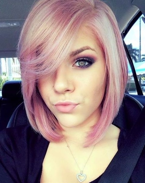 55 Cute Bob Hairstyles For 2017: Find Your Look With Blonde Bob With Side Bangs (View 20 of 25)