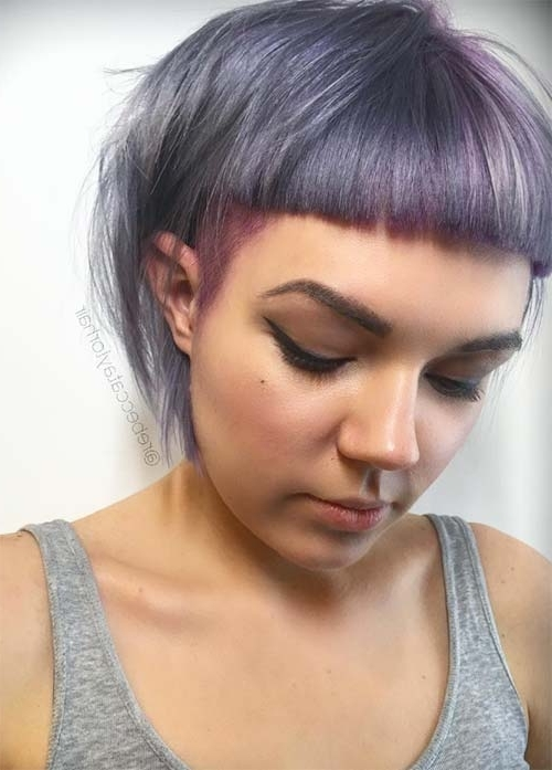 55 Incredible Short Bob Hairstyles & Haircuts With Bangs | Fashionisers In Silver Bettie Blonde Hairstyles (View 18 of 25)