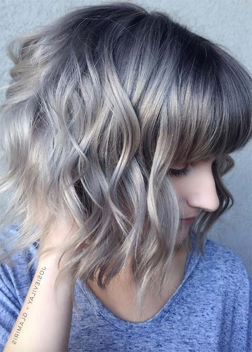 55 Incredible Short Bob Hairstyles & Haircuts With Bangs | Fashionisers In Silver Bettie Blonde Hairstyles (View 8 of 25)