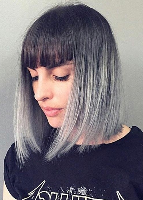 55 Incredible Short Bob Hairstyles & Haircuts With Bangs | Fashionisers Intended For Silver Bettie Blonde Hairstyles (View 11 of 25)