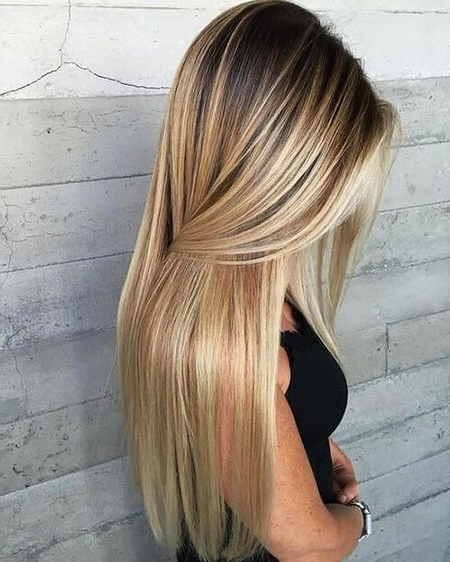 55 Long Blonde Hair Color – Blonde Hairstyles 2017 Inside Dark Roots Blonde Hairstyles With Honey Highlights (View 15 of 25)