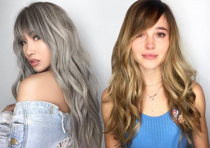 55 Long Haircuts With Bangs For 2018: Tips For Wearing Fringe With Accessorize Curled Look Ponytail Hairstyles With Bangs (View 14 of 25)