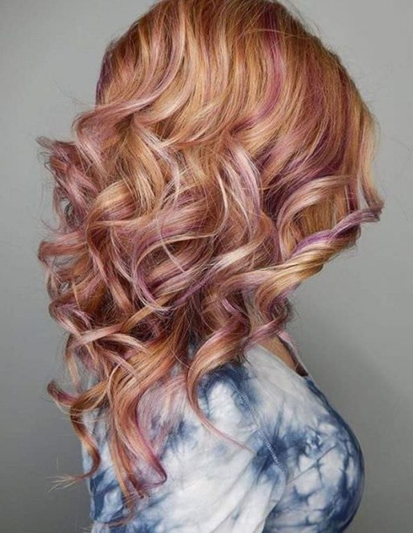 55 Of The Most Attractive Strawberry Blonde Hairstyles Within Dark Blonde Hairstyles With Icy Streaks (View 12 of 25)