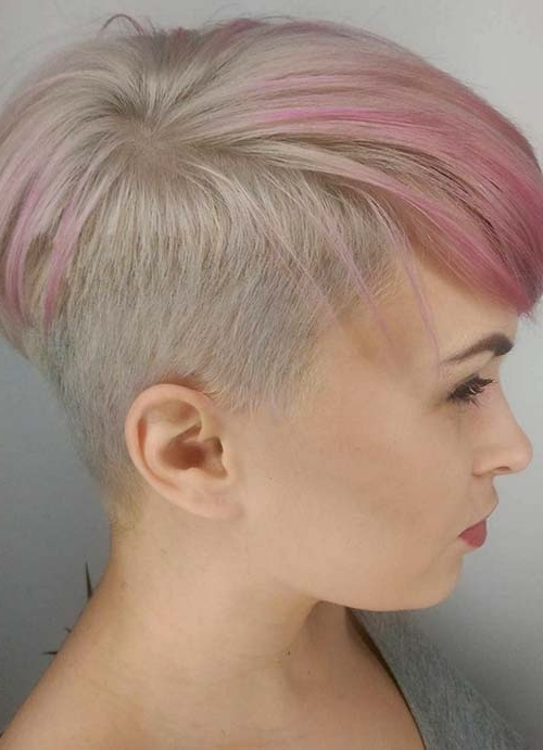 55 Short Hairstyles For Women With Thin Hair | Fashionisers In Most Current Rose Gold Pixie Hairstyles (View 12 of 25)