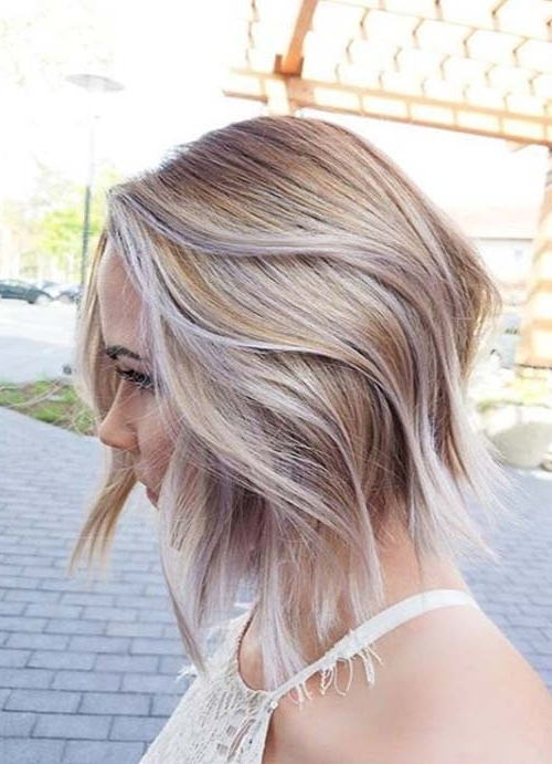 55 Short Hairstyles For Women With Thin Hair | Fashionisers Inside Icy Blonde Shaggy Bob Hairstyles (View 18 of 25)