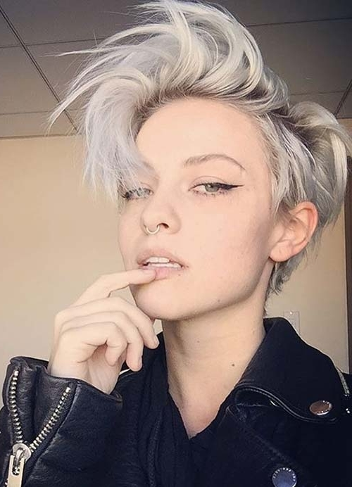 55 Short Hairstyles For Women With Thin Hair | Fashionisers Regarding Current Rocker Pixie Hairstyles (View 11 of 25)