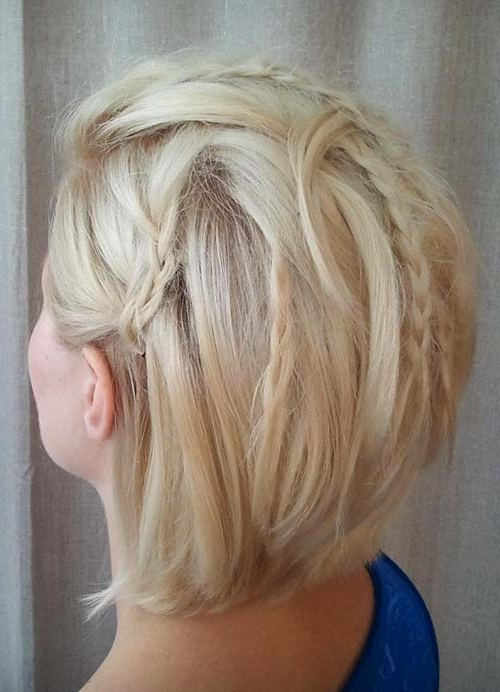 55 Short Hairstyles For Women With Thin Hair | Fashionisers With Long Blonde Bob Hairstyles In Silver White (View 25 of 25)