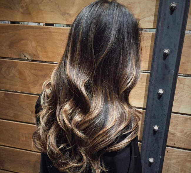 55 Stylish Highlights For Black Hair — Rock Your Locks Inside Dark Locks Blonde Hairstyles With Caramel Highlights (View 8 of 25)