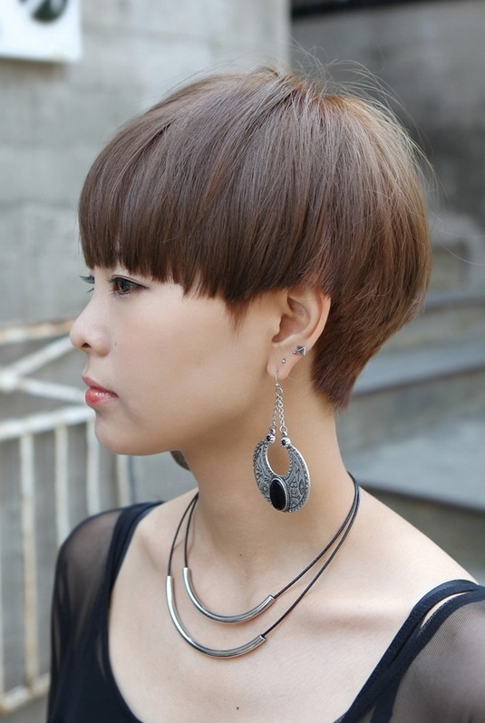 55 Super Hot Short Hairstyles 2017 – Layers, Cool Colors, Curls, Bangs Within Most Recent Contemporary Pixie Hairstyles (View 19 of 25)