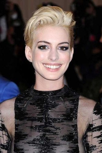 58 Cool Blonde Edgy Hairstyles For All Ages (Rocker Chic Hair) Page Throughout Newest Rocker Pixie Hairstyles (View 9 of 25)