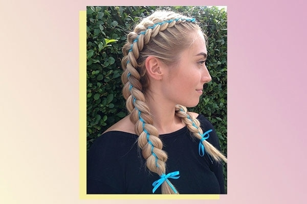 6 Double Braid Hairstyles | Bebeautiful Intended For Double Braided Hairstyles (View 8 of 25)