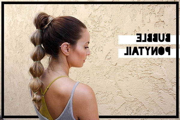 6 Easy And Practical Hairstyles For Working Out | The Beachbody Blog For High Bubble Ponytail Hairstyles (View 8 of 25)