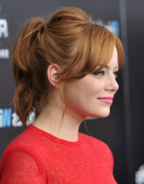6 Great Ponytails With Bangs Inspiration Ideas Inside Half Pony Hairstyles With Parted Bangs (View 23 of 25)